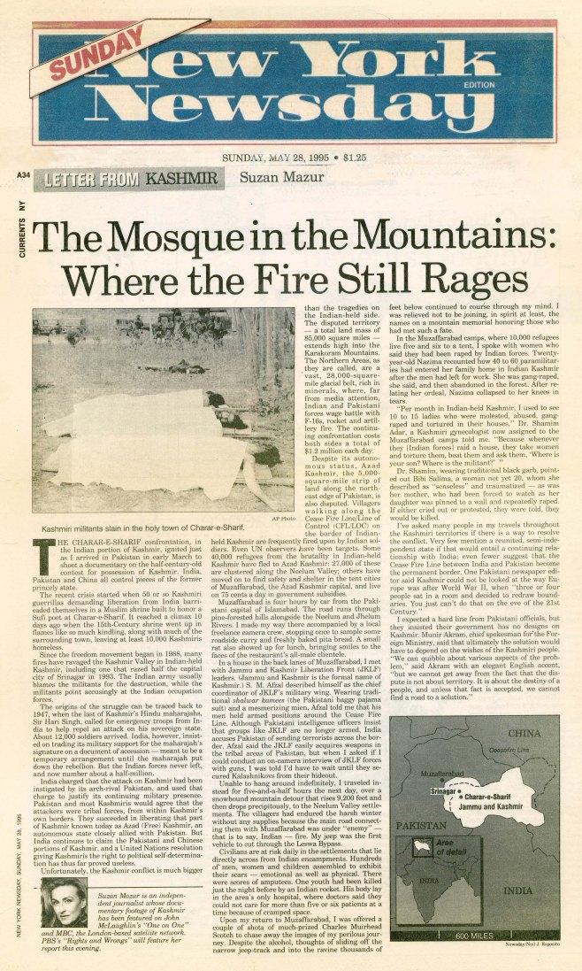 MAZUR 0922 NEWS-6d - NEWSDAY 1995-0528