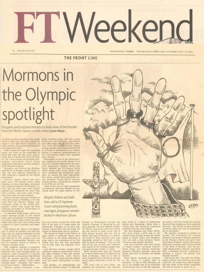 FTWEEKEND 2002 - Mormon Olympics