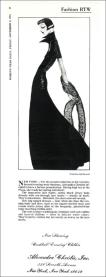 Joel Resnicoff illustration of Suzan Mazur - WWD, 1974 (print copy)
