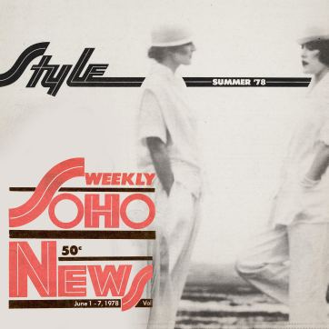 Soho Weekly News 1978 - Suzan Mazur (left), Honey Wolters (right)