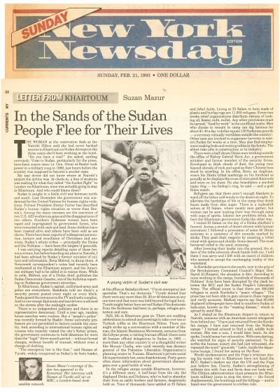 Sudan oped - Newsday - Feb. 21, 1993
