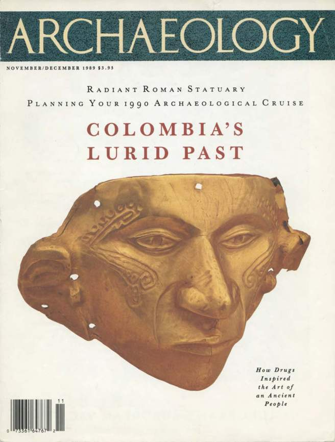 Suzan Mazur, ARCHAEOLOGY, Colombia cover story, Nov-Dec,1989 -2_Page_1
