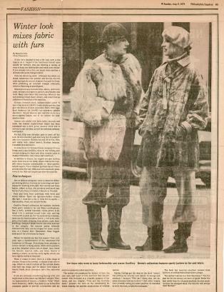 Suzan Mazur (right), photo by Harry Benson f Philadelphia Inquirer, August 1976