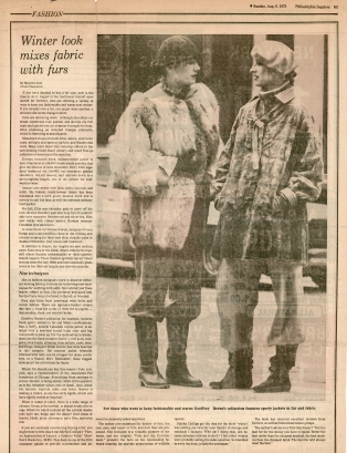 Suzan Mazur (right), photo by Harry Benson f Philadelphia Inquirer, August 1976