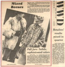 Suzan Mazur (right) - WWD, 1978 - Photo by Harry Benson for Geoffrey Beene