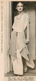 Suzan Mazur, WWD, 1976 -- Scott Barrie's Pre-Rapaelite fashion show