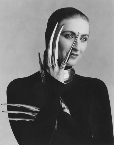 suzan mazur, photo by matthew klein, 1979, silver jewelry by robert lee morris