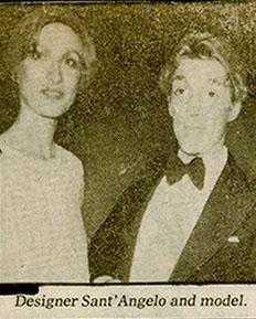 Suzan Mazur with Giorgio' Sant Angelo (top left), Rizzoli Party, 1975 Washington Star 2
