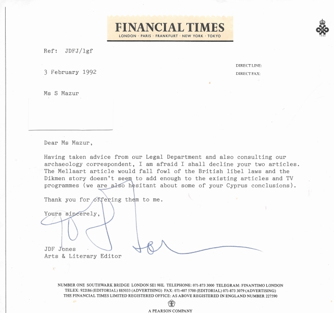 Financial Times Letter from JDF Jones - Mellaart Dorak.jpg